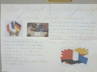 Affiche sur l'amitié Franco-Allemande