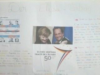 Affiche sur le traité de l'Elysée