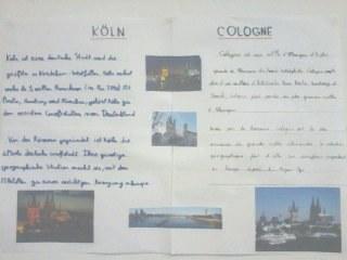Affiche sur la ville de Cologne